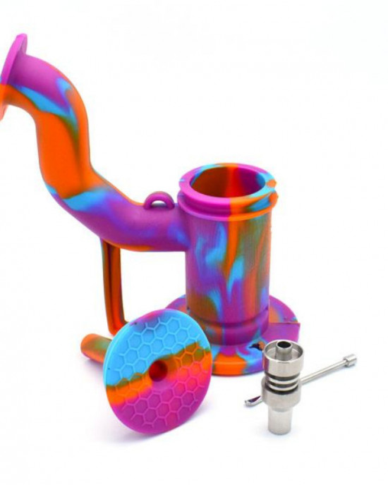 SILICONE WATER PIPE DAB RIG BUBBLER